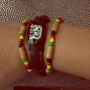 Jewelry - Set of Jamaican Reggae Rasta Pan African Bracelets